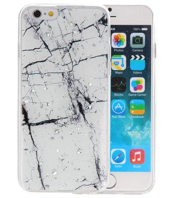 Marble Wit Print Hardcase voor iPhone 6