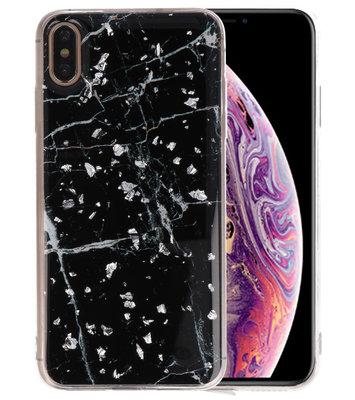 Marble Zwart Print Hardcase voor iPhone XS Max