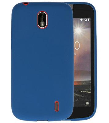 Navy Color TPU Hoesje voor Nokia 1