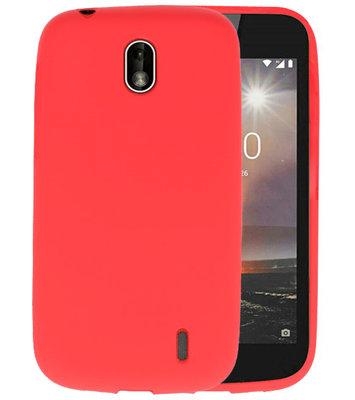Rood Color TPU Hoesje voor Nokia 1