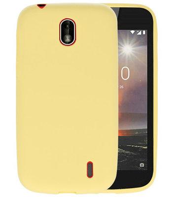 Geel Color TPU Hoesje voor Nokia 1