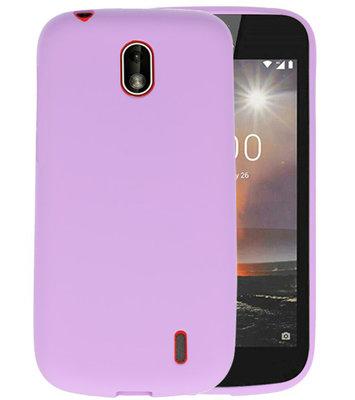 Paars Color TPU Hoesje voor Nokia 1