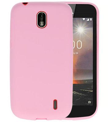 Roze Color TPU Hoesje voor Nokia 1