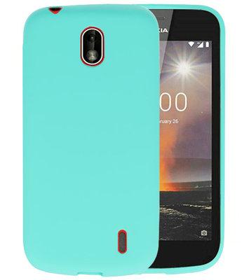 Turquoise Color TPU Hoesje voor Nokia 1