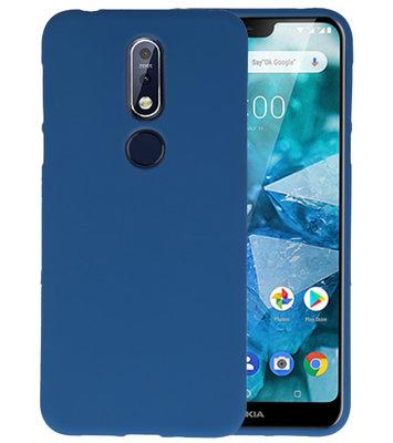 Navy Color TPU Hoesje voor Nokia 7.1