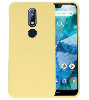 Geel Color TPU Hoesje voor Nokia 7.1