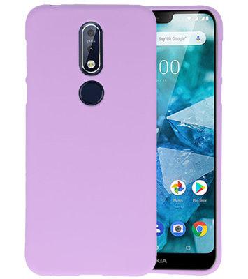 Paars Color TPU Hoesje voor Nokia 7.1