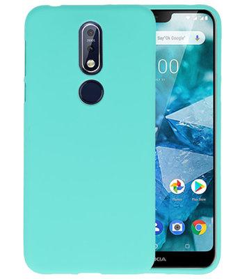 Turquoise Color TPU Hoesje voor Nokia 7.1