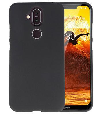 Zwart Color TPU Hoesje voor Nokia 8.1