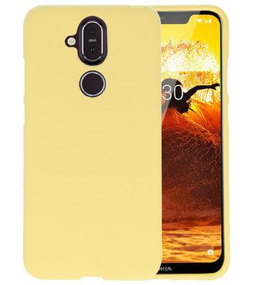 Geel Color TPU Hoesje voor Nokia 8.1