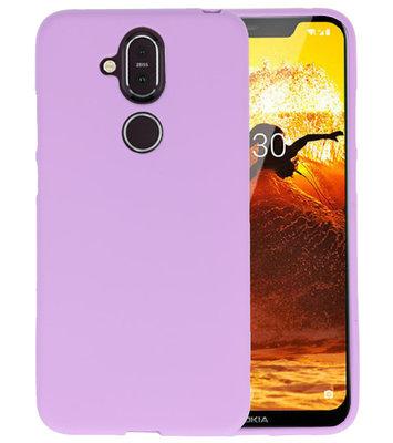 Paars Color TPU Hoesje voor Nokia 8.1