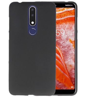 Zwart Color TPU Hoesje voor Nokia 3.1 Plus