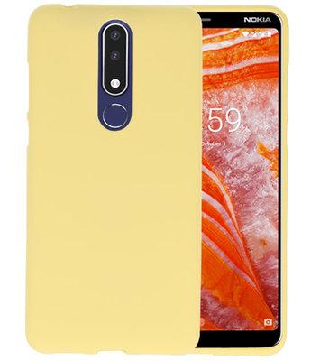 Geel Color TPU Hoesje voor Nokia 3.1 Plus