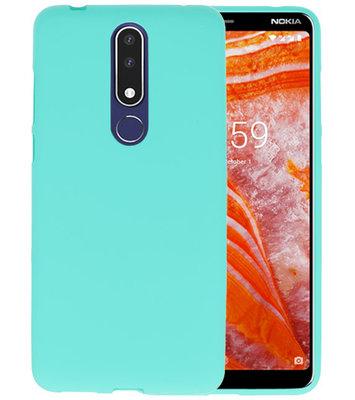 Turquoise TPU Hoesje voor Nokia 3.1 Plus