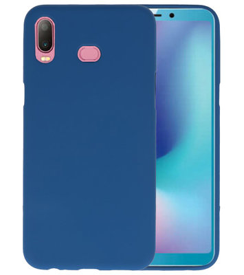 Navy Color TPU Hoesje voor Samsung Galaxy A6s
