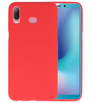 Rood Color TPU Hoesje voor Samsung Galaxy A6s