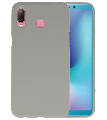 Grijs Color TPU Hoesje voor Samsung Galaxy A6s