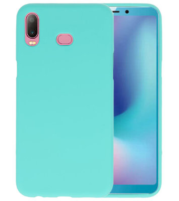 Turquoise Color TPU Hoesje voor Samsung Galaxy A6s