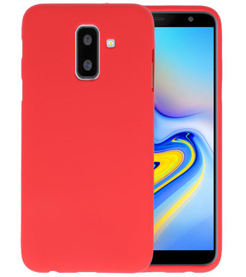 Rood Color TPU Hoesje voor Samsung Galaxy A6 Plus