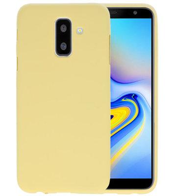 Geel Color TPU Hoesje voor Samsung Galaxy A6 Plus