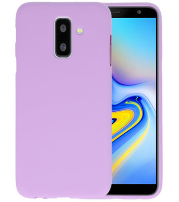Paars Color TPU Hoesje voor Samsung Galaxy A6 Plus