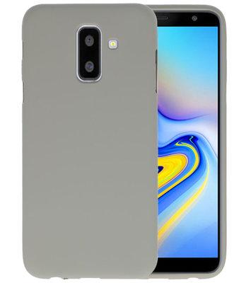 Grijs Color TPU Hoesje voor Samsung Galaxy A6 Plus