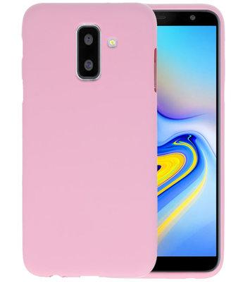 Roze Color TPU Hoesje voor Samsung Galaxy A6 Plus
