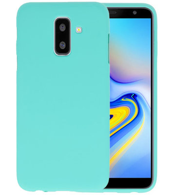 Turquoise Color TPU Hoesje voor Samsung Galaxy A6 Plus