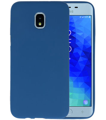Navy Color TPU Hoesje voor Samsung Galaxy J3 2018