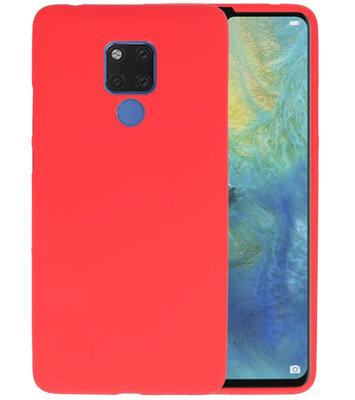 Rood Color TPU Hoesje voor Huawei Mate 20 X