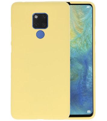 Geel Color TPU Hoesje voor Huawei Mate 20 X