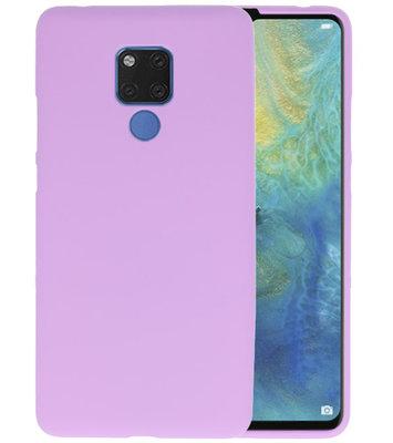 Paars Color TPU Hoesje voor Huawei Mate 20 X