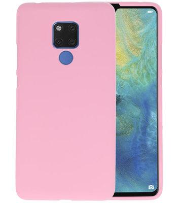 Roze Color TPU Hoesje voor Huawei Mate 20 X