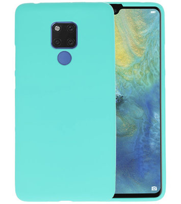 Turquoise Color TPU Hoesje voor Huawei Mate 20 X