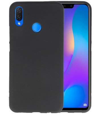 Zwart Color TPU Hoesje voor Huawei P Smart Plus