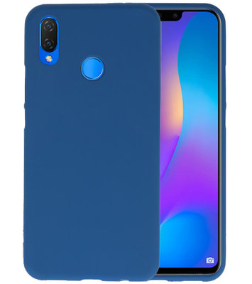 Navy Color TPU Hoesje voor Huawei P Smart Plus
