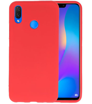 Rood Color TPU Hoesje voor Huawei P Smart Plus