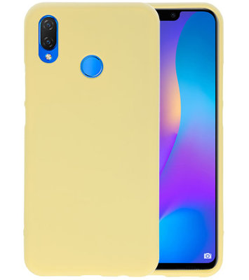 Geel Color TPU Hoesje voor Huawei P Smart Plus