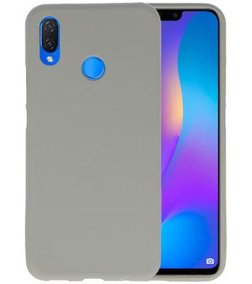 Grijs Color TPU Hoesje voor Huawei P Smart Plus