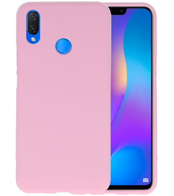 Roze Color TPU Hoesje voor Huawei P Smart Plus