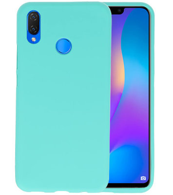 Turquoise Color TPU Hoesje voor Huawei P Smart Plus