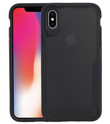 Zwart Focus Transparant Hard Cases voor iPhone X / XS