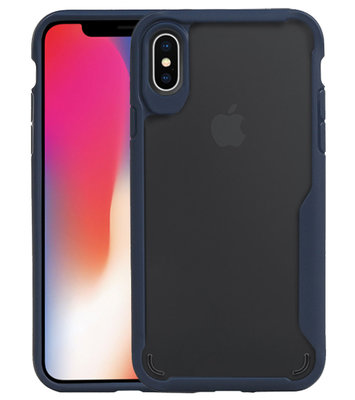Navy Focus Transparant Hard Cases voor iPhone X / XS