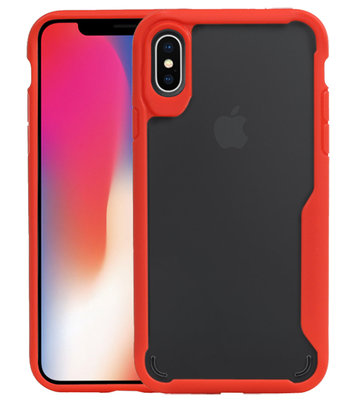 Rood Focus Transparant Hard Cases voor iPhone X / XS