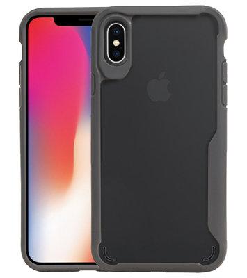 Grijs Focus Transparant Hard Cases voor iPhone X / XS