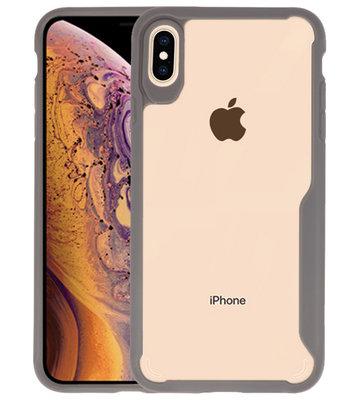 Grijs Focus Transparant Hard Cases iPhone XS Max