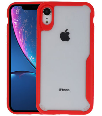 Rood Focus Transparant Hard Cases voor iPhone XR