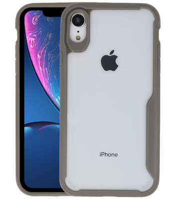 Grijs Focus Transparant Hard Cases voor iPhone XR