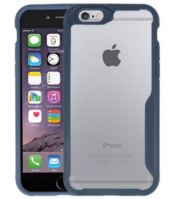 Navy Focus Transparant Hard Cases voor iPhone 6