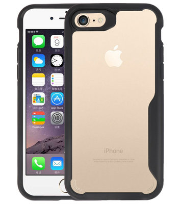 Zwart Focus Transparant Hard Cases voor iPhone 7 / 8